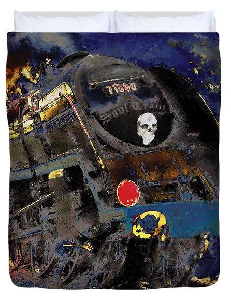 Devil's Train Duvet Cover by Pennie  McCracken