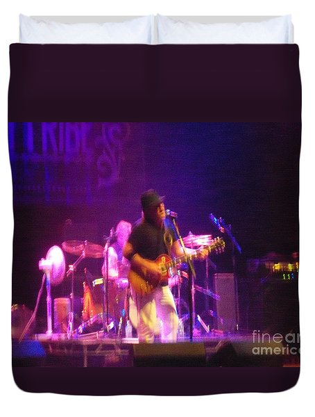 Duvet Cover featuring the photograph Devon Allman by Kelly Awad