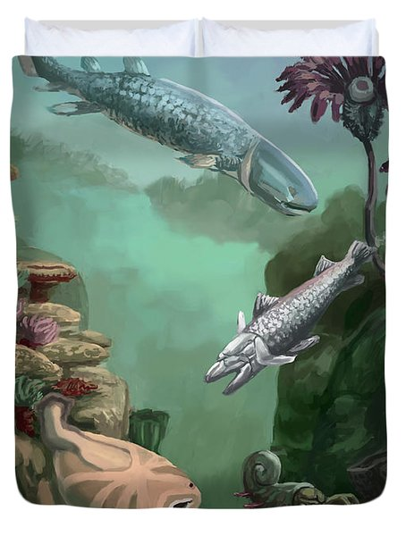 Devonian Period Duvet Cover by Spencer Sutton