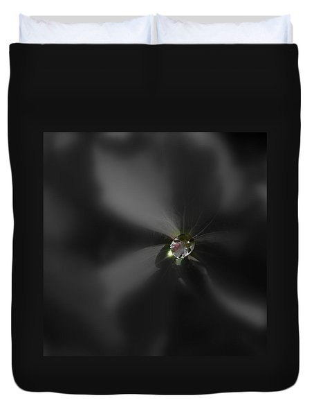 Duvet Cover featuring the photograph Dew Bead by Nick Kloepping