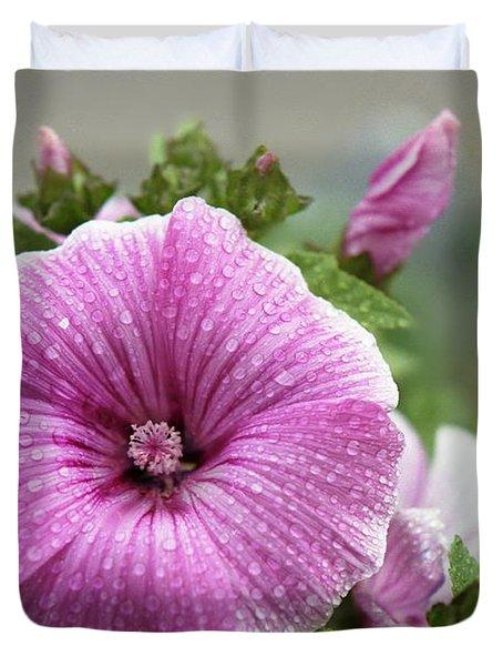 Dew Drop Petals Duvet Cover