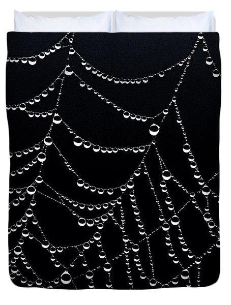 Dew Drops On Web 2 Duvet Cover