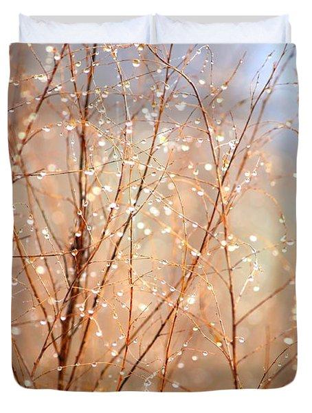 Dewdrop Morning Duvet Cover