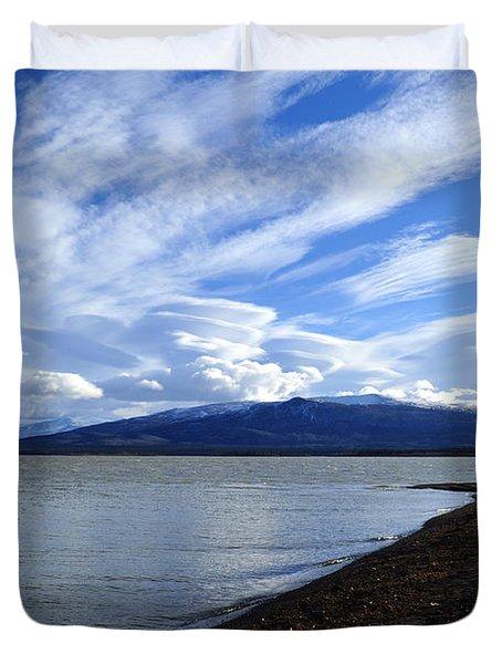 Dezadeash Lake Duvet Cover by Cathy Mahnke