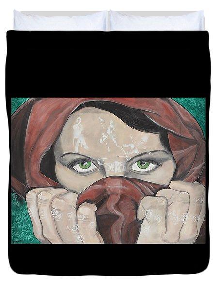 Dface Duvet Cover by Darlene Graeser