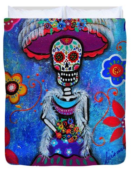 Dia De Los Muertos Catrina Duvet Cover