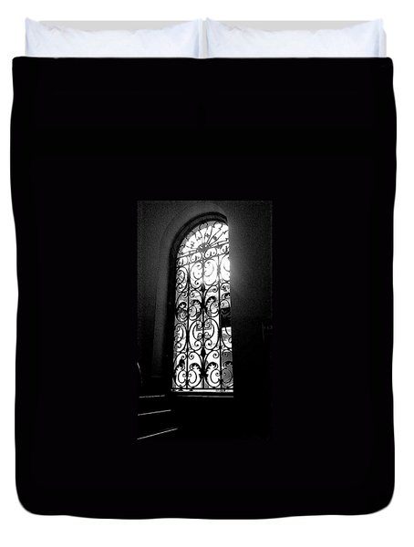 Duvet Cover featuring the photograph Dia Window by Daniel Thompson