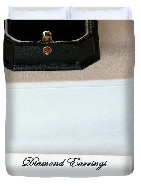 Diamond Earrings On Sale Duvet Cover