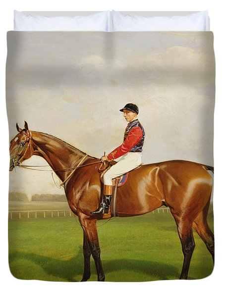 Diamond Jubilee Winner Of The 1900 Derby Duvet Cover by Emil Adam