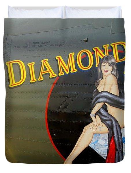 Diamond Lil B-24 Bomber Duvet Cover