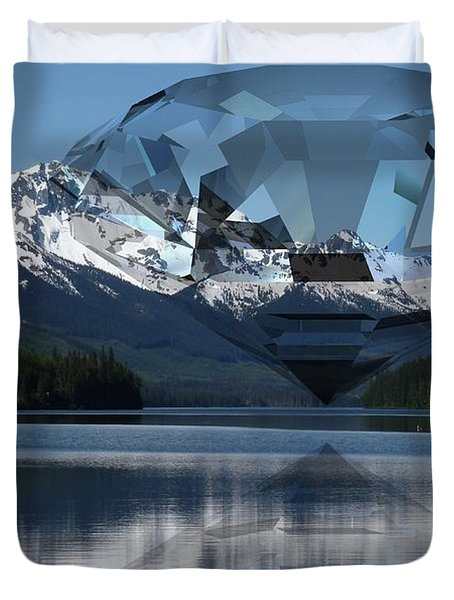 Diamonds Darling Duvet Cover by Ron Davidson