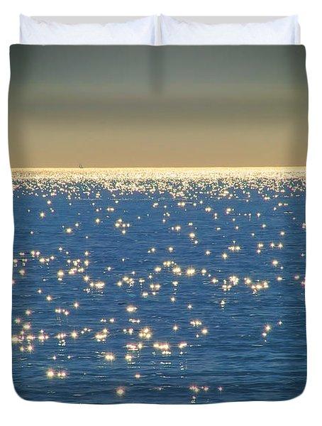 Diamonds On The Ocean Duvet Cover by Mariola Bitner