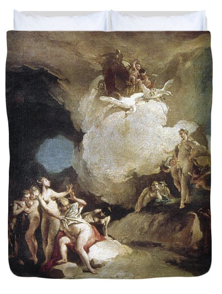 Diana And Callisto Duvet Cover