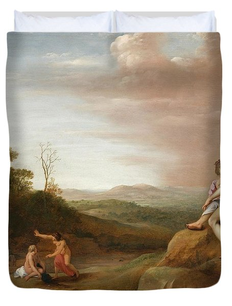 Diana And Her Nymphs With The Discovery Duvet Cover