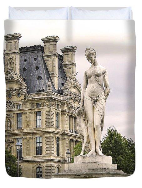 Diana Huntress Tuileries Garden Duvet Cover