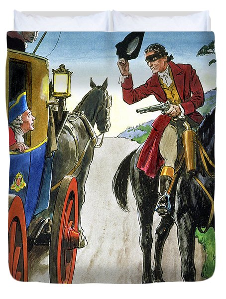 Dick Turpin From Peeps Into The Past Duvet Cover