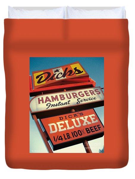 Dick's Hamburgers Duvet Cover