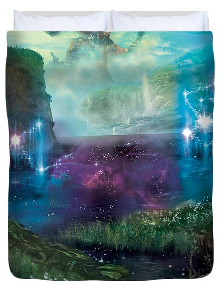 Dictate Of Kruphix Promo Duvet Cover by Ryan Barger
