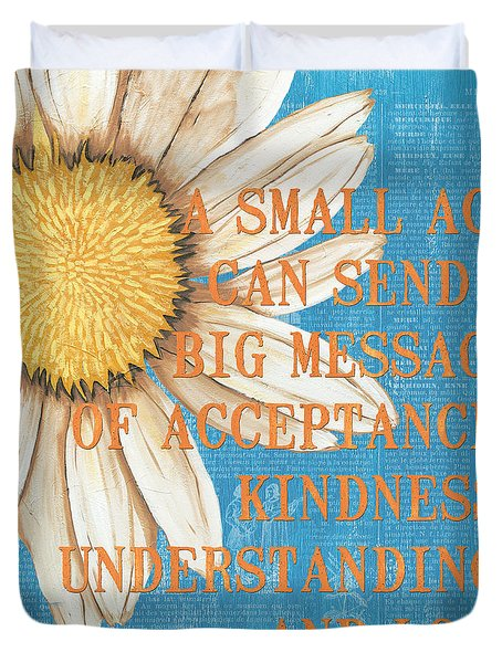 Dictionary Florals 4 Duvet Cover