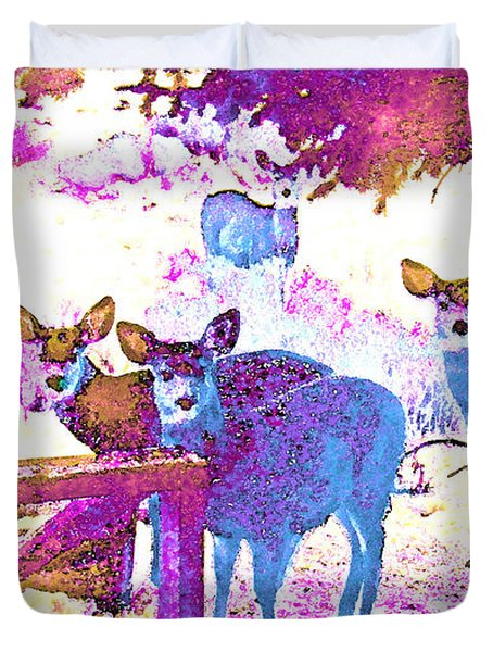 Did You Hear Something? Duvet Cover by Lenore Senior and Dawn Senior-Trask