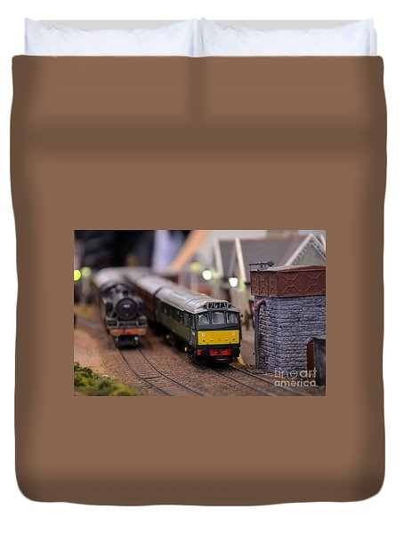 Diesel Electric Model Train Railway Engine Duvet Cover