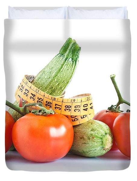 Diet Ingredients Duvet Cover by Antonio Scarpi