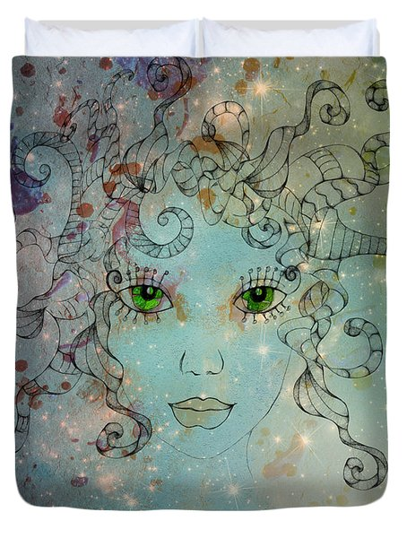 Duvet Cover featuring the digital art Different Being by Barbara Orenya