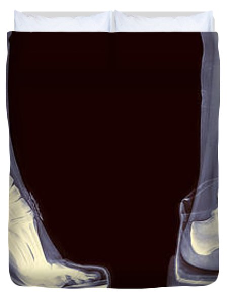 Different Shoes X-ray  Duvet Cover