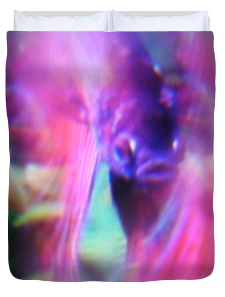 Digital Abstract With Fish 6 Duvet Cover