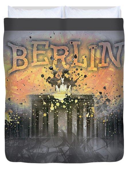 Digital-art Brandenburg Gate I Duvet Cover by Melanie Viola