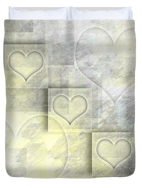 Digital-art Hearts II Duvet Cover
