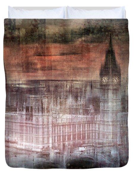 Digital-art London Westminster II Duvet Cover by Melanie Viola