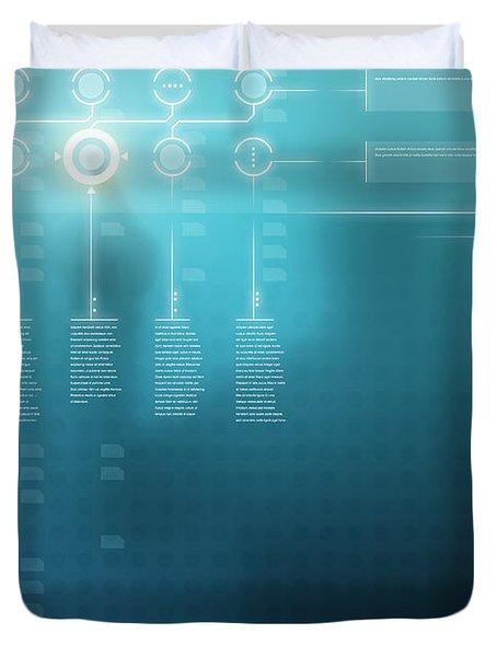 Digital Display  Duvet Cover