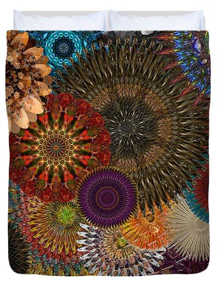 Digital Flowers 001 Duvet Cover by Stuart Turnbull