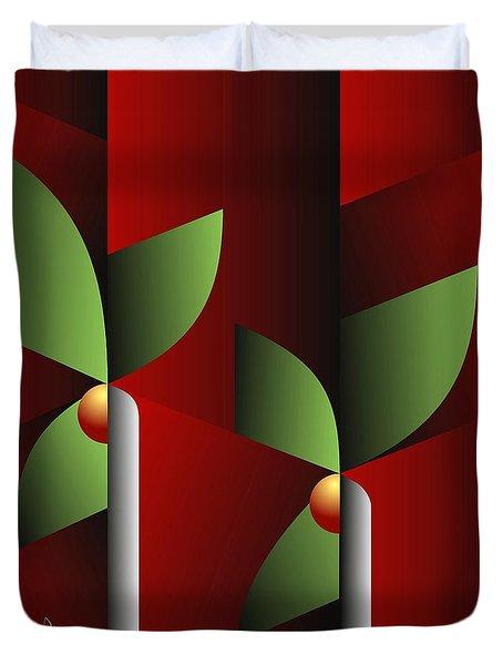 Duvet Cover featuring the digital art Digital Garden by Leo Symon