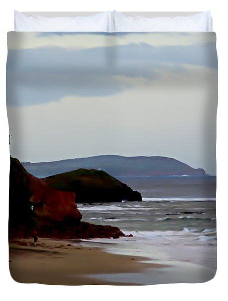 Digital Painting Of Smiths Beach Duvet Cover