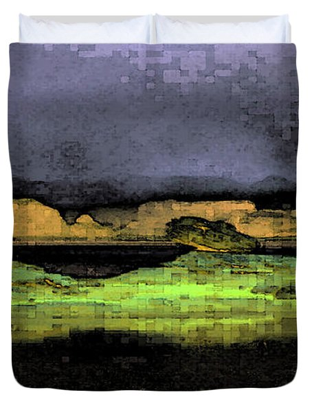 Digital Powell Duvet Cover
