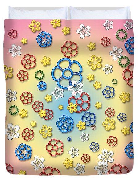 Digital Springtime Duvet Cover by Gaspar Avila