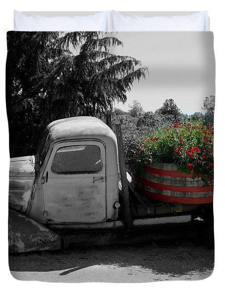 Dilapidated Beauty Bw Duvet Cover