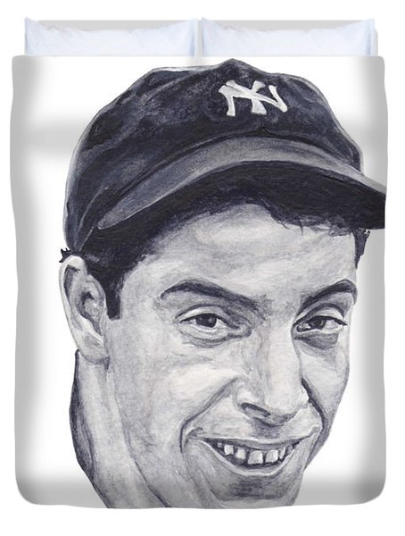 Duvet Cover featuring the painting Dimaggio by Tamir Barkan