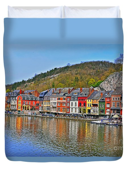 Dinant And The River Meuse Duvet Cover