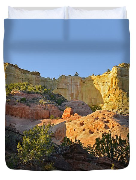 Dine' Tah ' Among The People ' Scenic Road Duvet Cover by Christine Till
