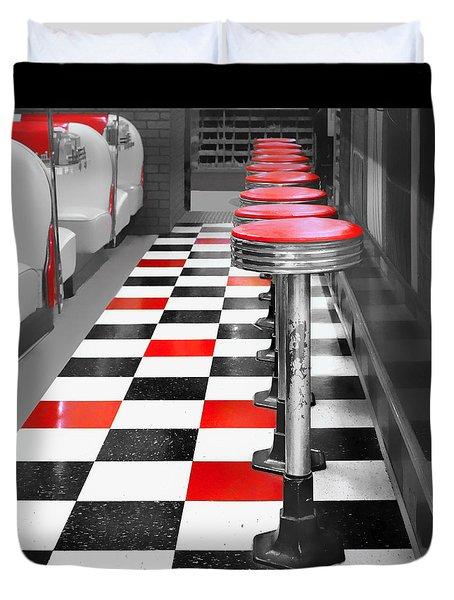Diner - 1 Duvet Cover by Nikolyn McDonald
