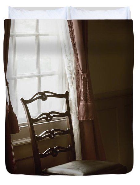 Dining Room Window Duvet Cover by Margie Hurwich