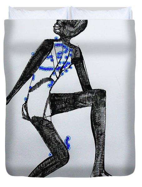 Dinka Silhouette - South Sudan Duvet Cover