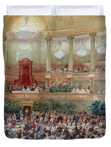 Dinner In The Salle Des Spectacles At Versailles Duvet Cover