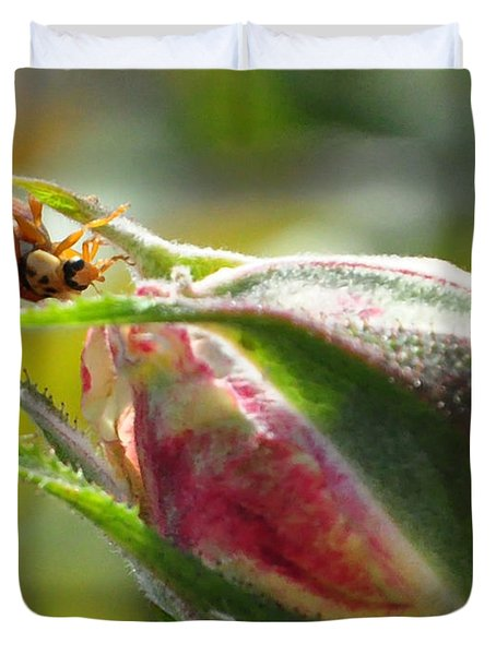 Duvet Cover featuring the photograph Dinner Is Ready by Debby Pueschel