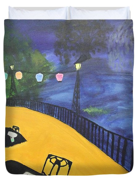 Dinner On The Bayou Duvet Cover