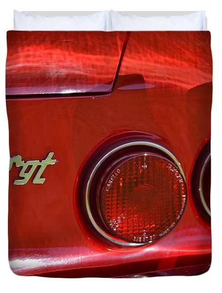 Duvet Cover featuring the photograph Dino Gt by Dean Ferreira
