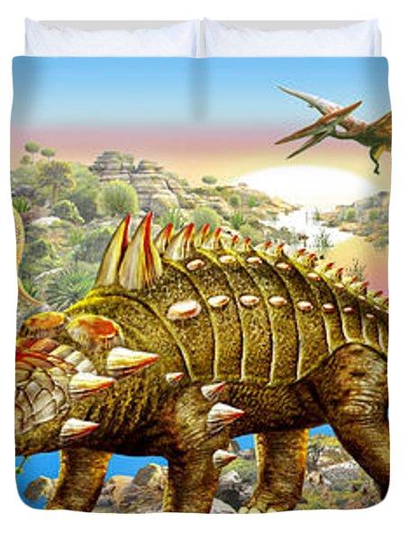 Dinosaur Panorama Duvet Cover
